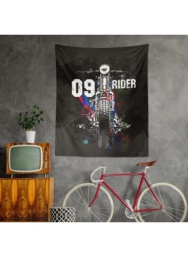 Eponj Home Tapestry Duvar Örtüsü 120x145 cm Rider Siyah Siyah
